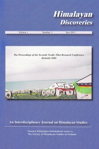 Himalayan Discoveries - an Interdisciplinary Journal on Himalayan Studies 2013
